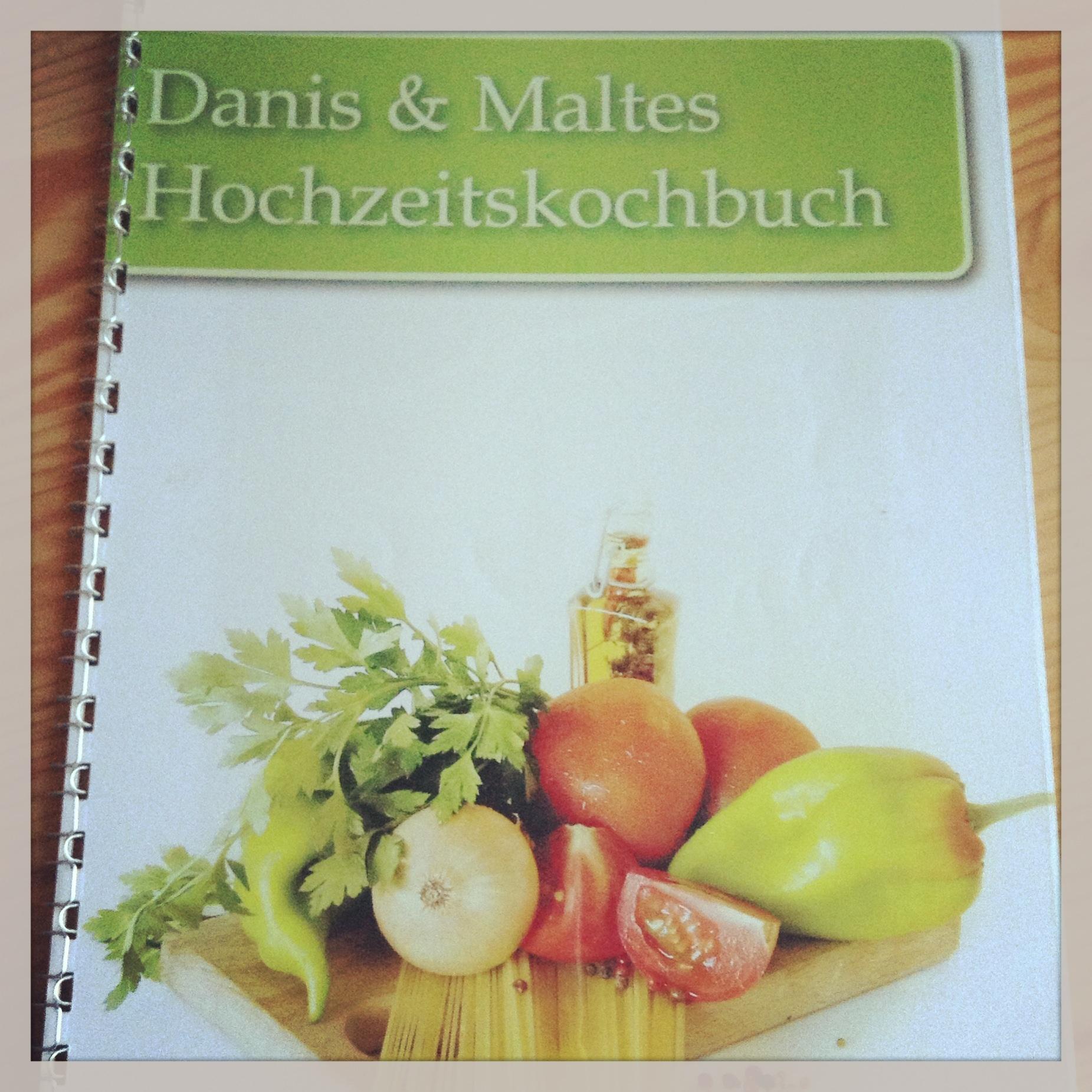 Persönliches Kochbuch Hochzeit