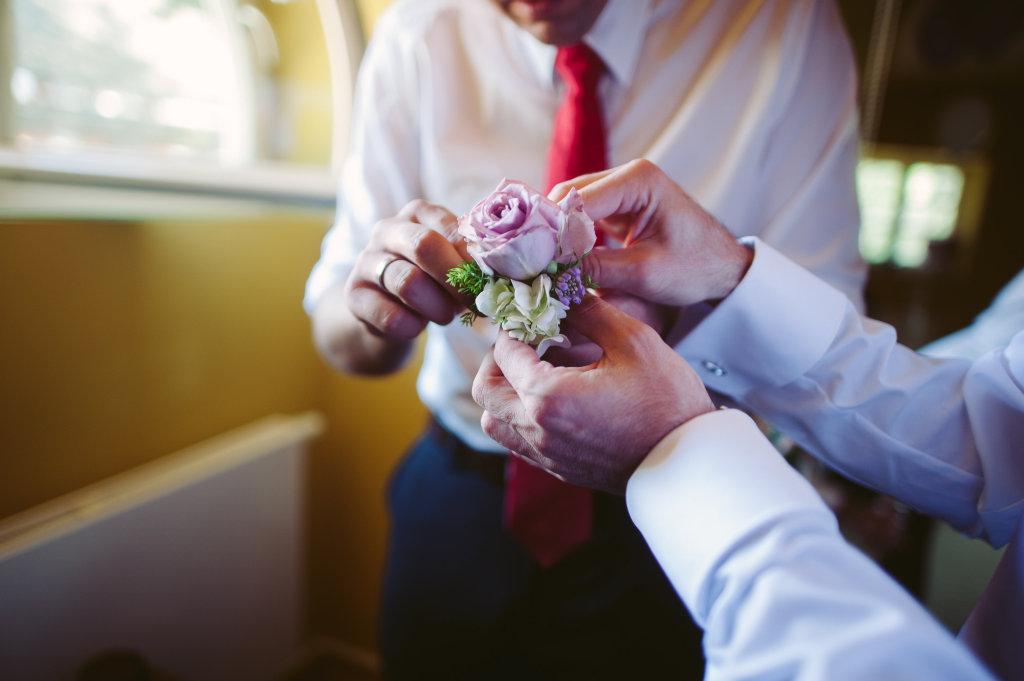 Bräutigam Blumen