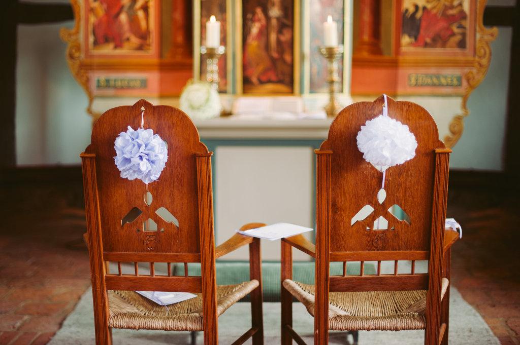 Kirchenstühle Deko