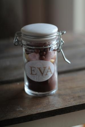 Trinkschokoladenmischung im Glas