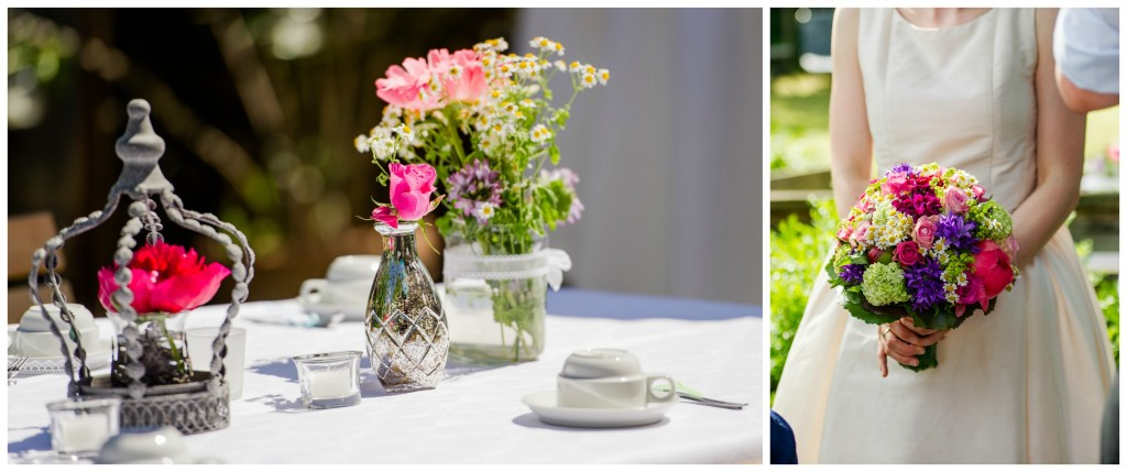 Gartenhochzeit Blumendeko Martina Rinke