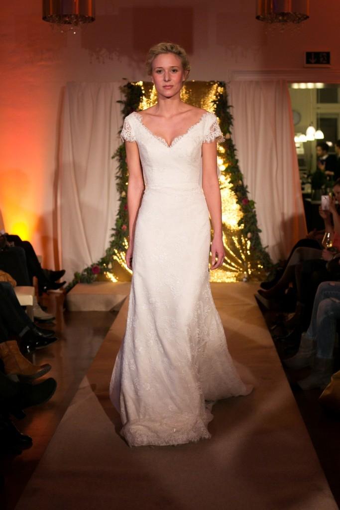 Braut auf dem Laufsteg