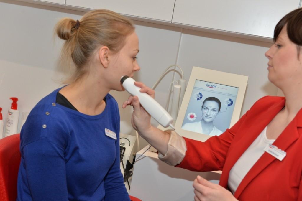 Durchführung einer Hautanalyse