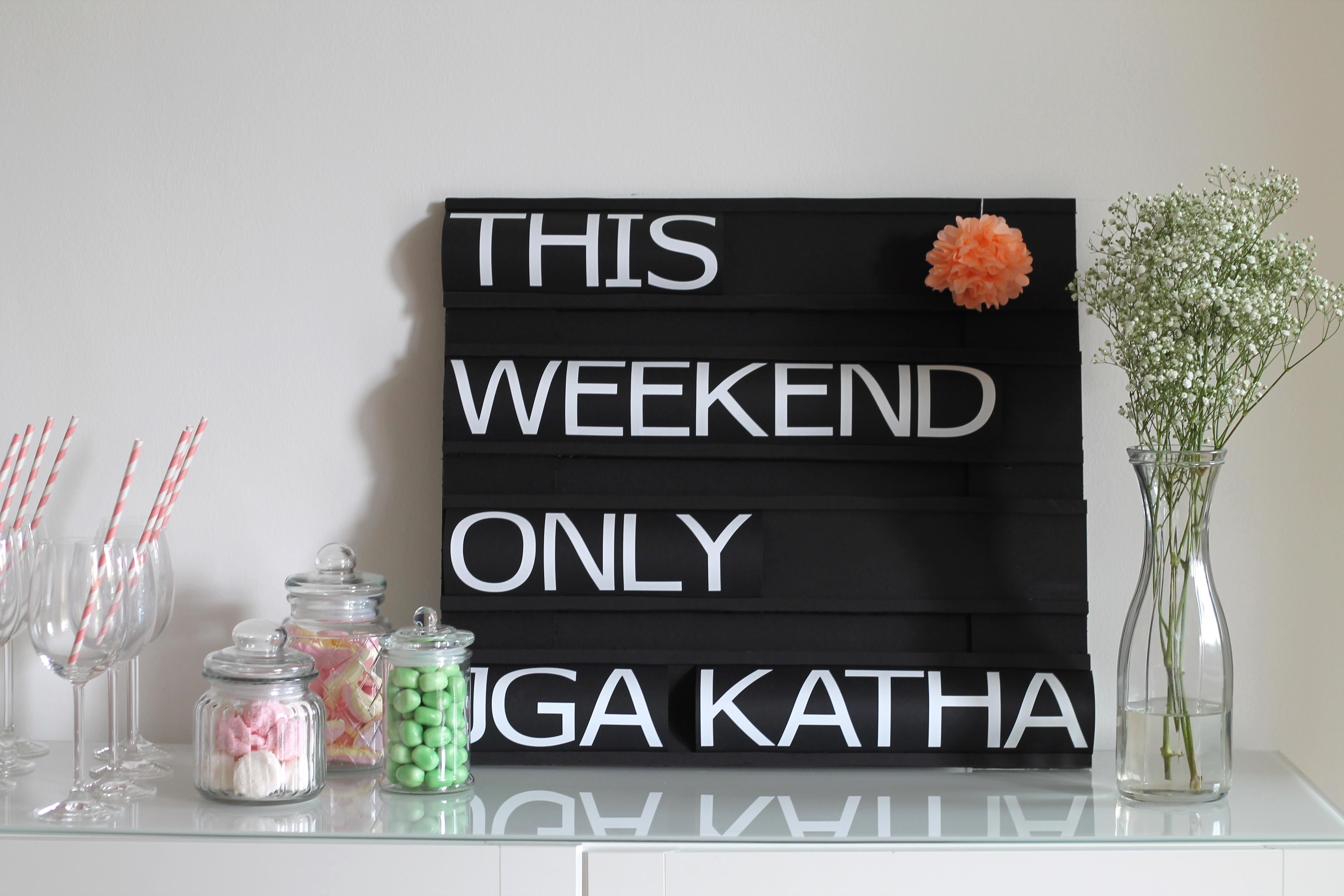 Katharinas Junggesellinnenabschied: Sweet Table & Dekoration