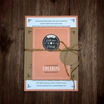 Einladungskarten Hochzeit Kraftpapier