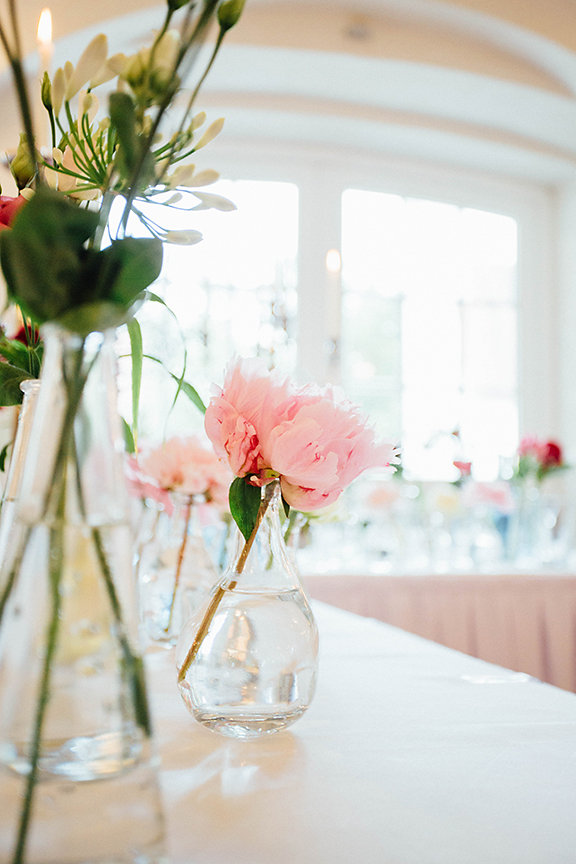Blumen rosa Tischdeko