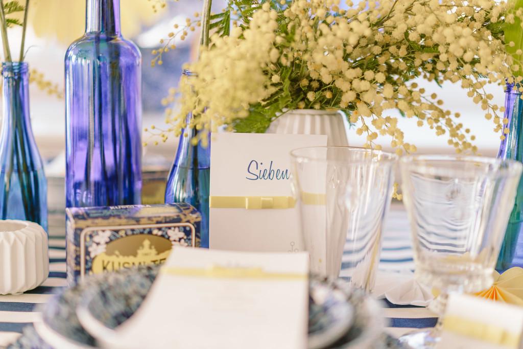 Hochzeitdeko gelb blau