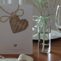 Menükarten Hochzeit rustikal