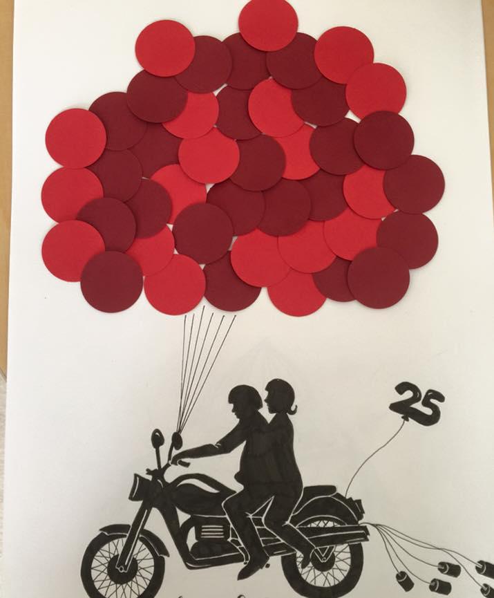 Hübsch Handmade Design Gästebuch Motorrad