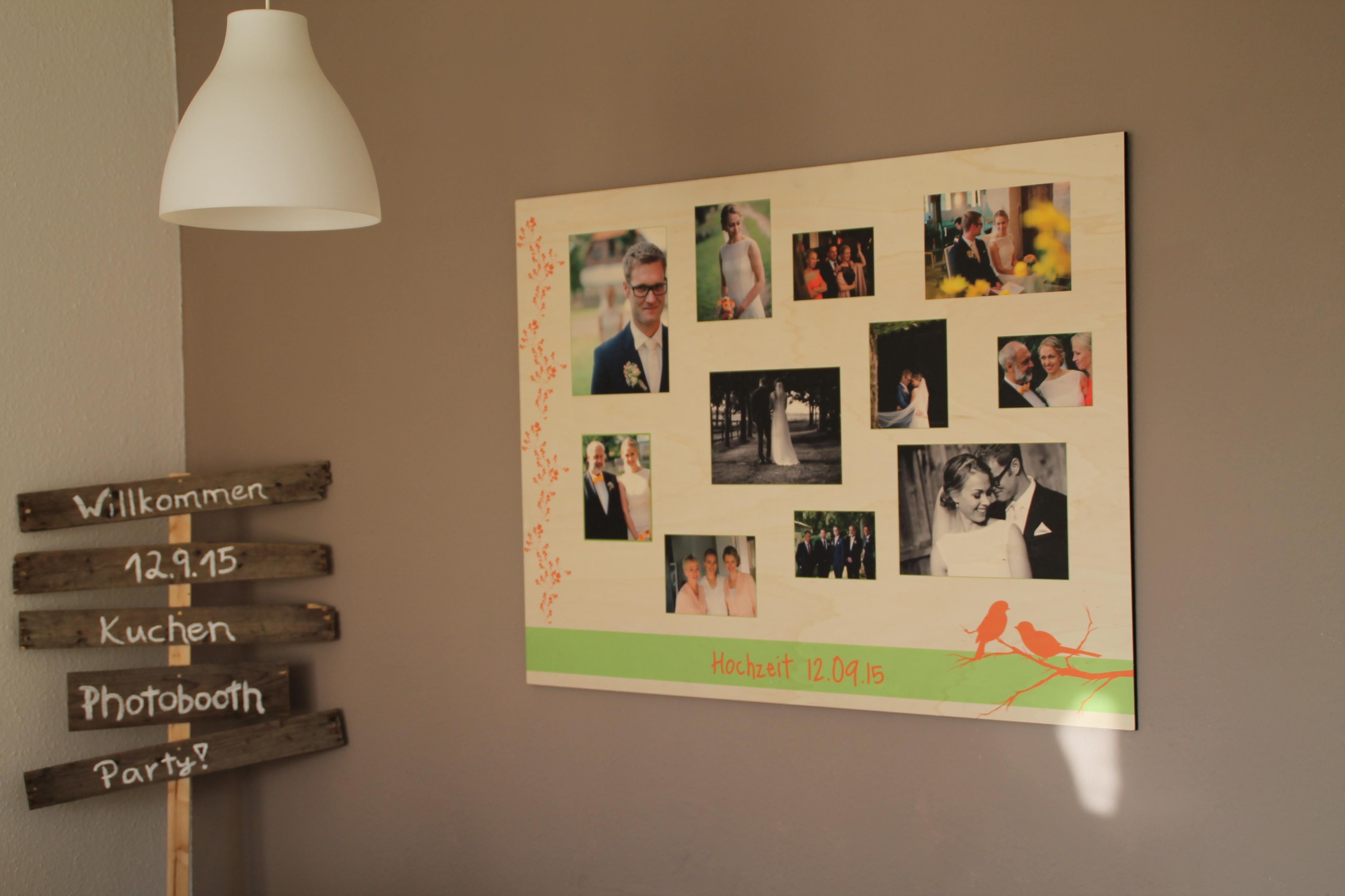 Fotowände - bleibende Erinnerungen nach der Hochzeit - Hochzeitsblog ...