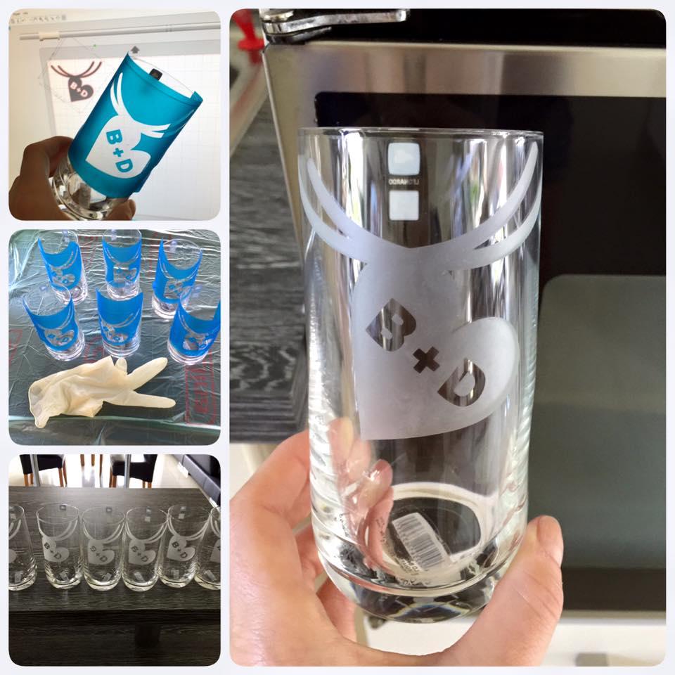 personalisierte Gläser Hübsch Handmade Design