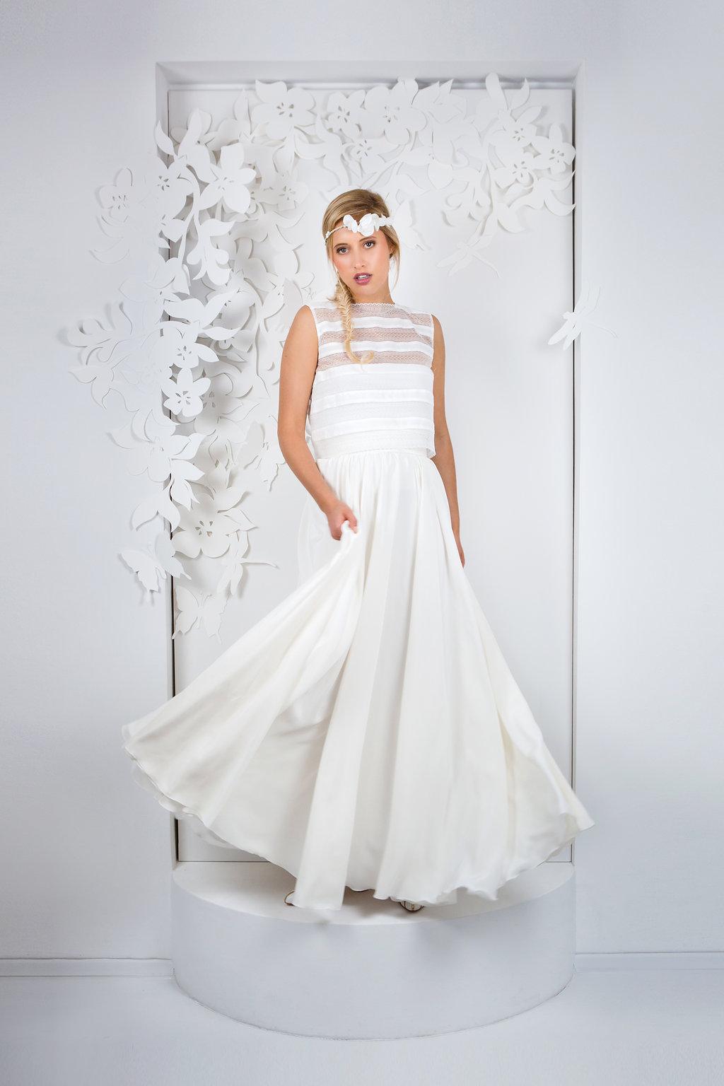 Brautkleid mit schwingendem Rock